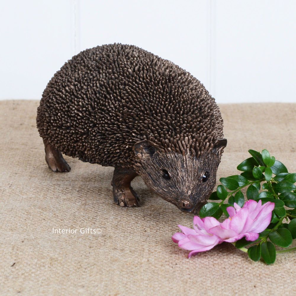 Snuffles Hedgehog Large Walking Frith Cold Cast Bronze