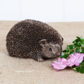 Frith Wiggles Small Hedgehog Bronze Sculpture by Thomas Meadows