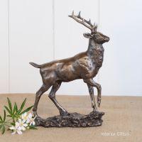 Bronze Sculpture of Majestic Stag or Reindeer