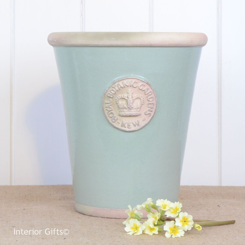 Kew Long Tom Pot in Chartwell Green - Royal Botanic Gardens Plant Pot - Lar
