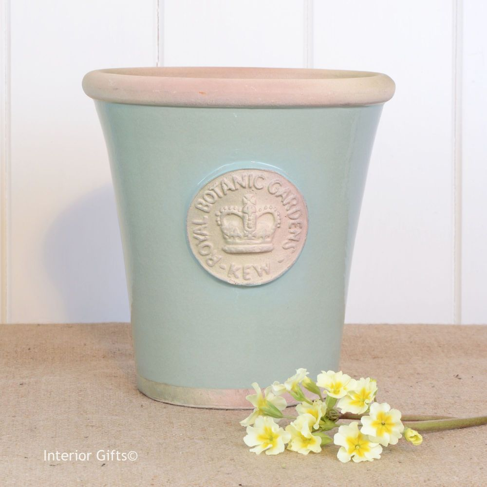 Kew Long Tom Pot in Chartwell Green - Royal Botanic Gardens Plant Pot - Med