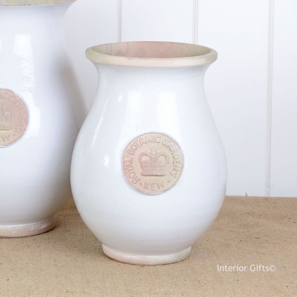 Kew Royal Botanic Gardens Shaped Vase in Bone - Small