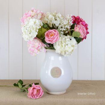 Kew Royal Botanic Gardens Shaped Vase in Bone - Large 33cm H