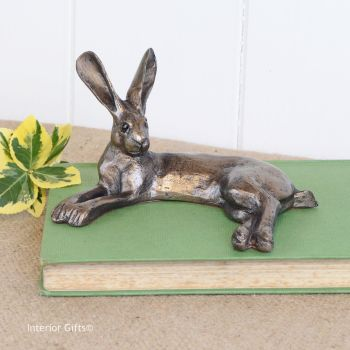 Honey Hare Frith Bronze Sculpture by Paul Jenkins