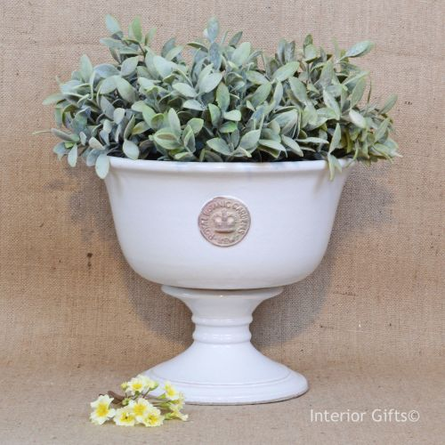 Kew Tall Footed Bowl in Old White - Royal Botanic Gardens Plant Pot