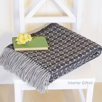 Tweedmill Charcoal & Grey Throw Blanket Pure New Wool