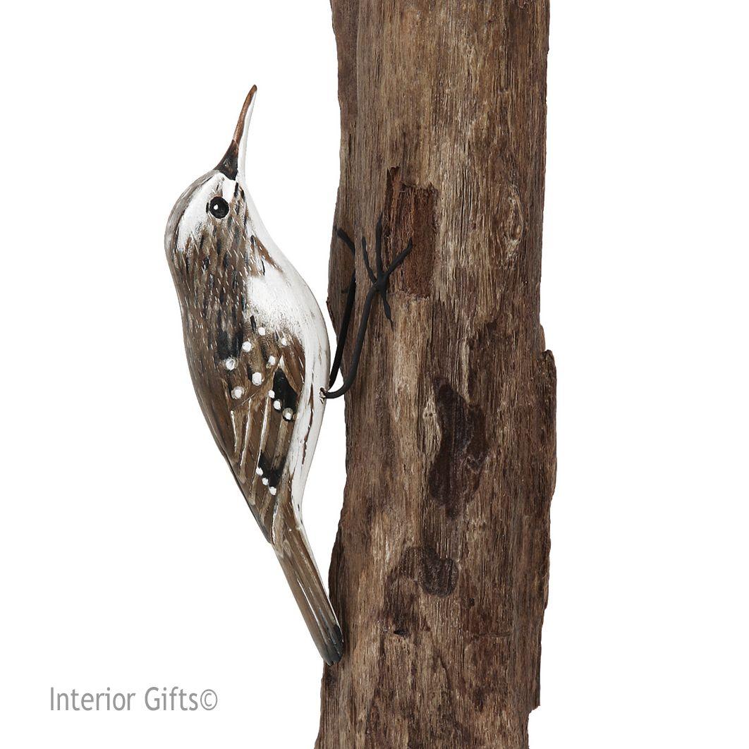 Archipelago Treecreeper Bird Wood Carving