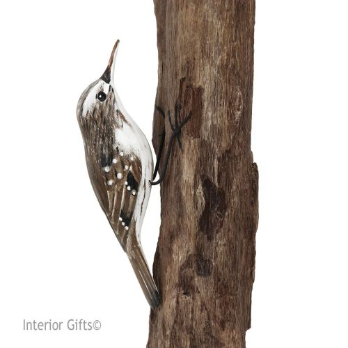 Archipelago Treecreeper Bird Wood Carving