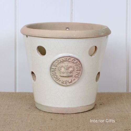 Kew Orchid Pot in Ivory Cream - Royal Botanic Gardens Plant Pot