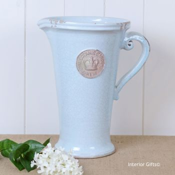 Kew Royal Botanic Gardens Tall Distressed Jug Duck Egg Blue - Large 35 cm