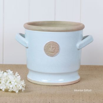 Kew Deep Planter with Handles Duck Egg Blue - Royal Botanic Gardens Plant Pot - 21.5 cm H