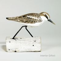 Archipelago Little Stint Running Bird Wood Carving