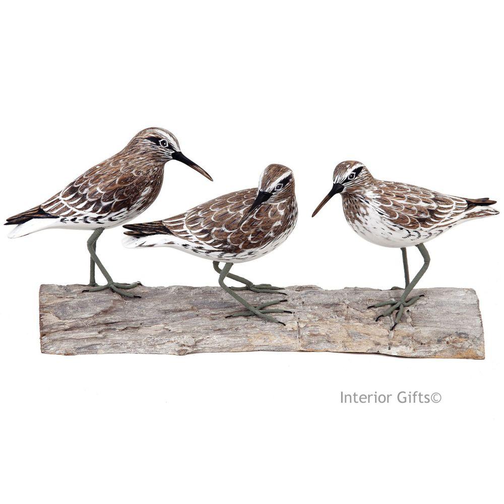 Archipelago 'Knot Block' Three Knot Birds on Driftwood Wood Carving
