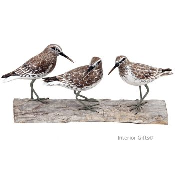 Archipelago 'Knot Block' Three Knot Birds Wood Carving