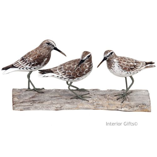 Archipelago 'Knot Block' Three Knot Birds on Driftwood Wood Carving