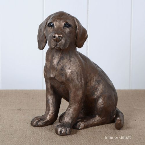 Beautiful Labrador Puppy in Bronze 'Toto' by Frith Sculpture