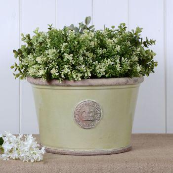 Kew Low Planter Pot Grape Green - Royal Botanic Gardens Plant Pot - Large