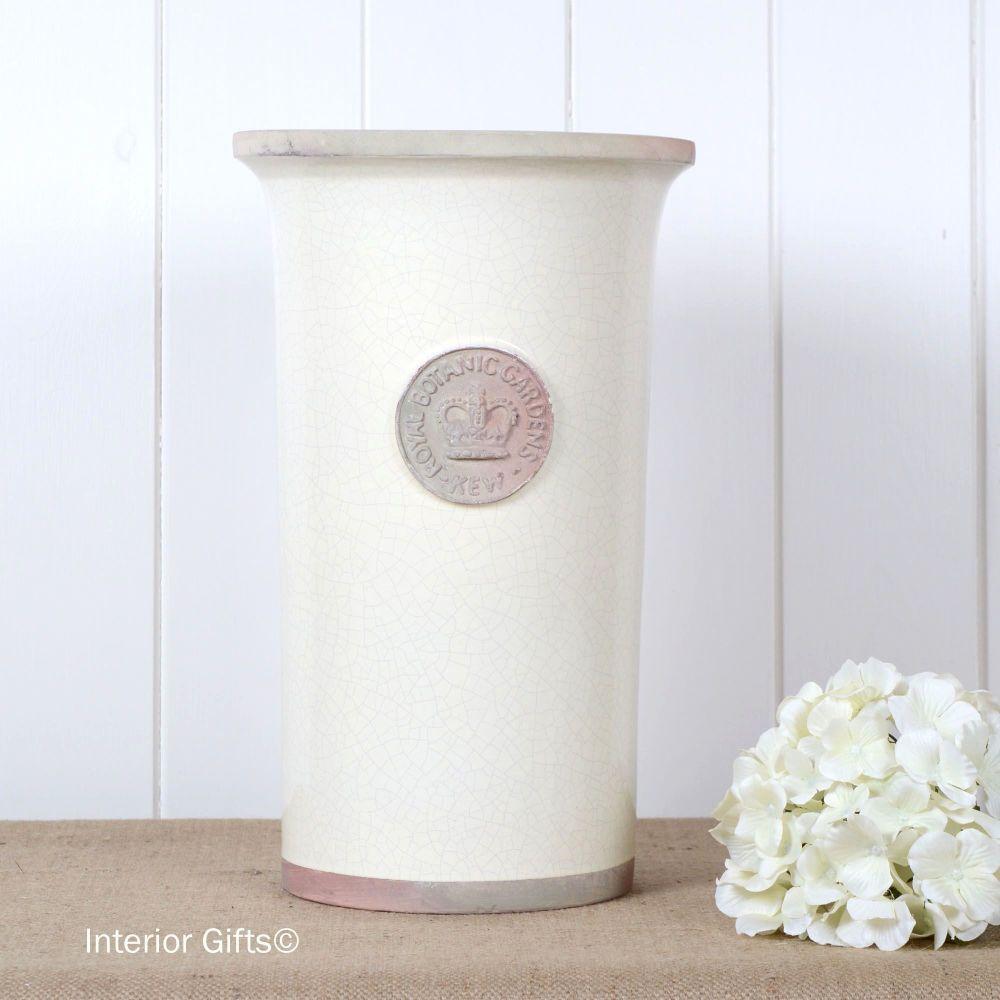 Kew Royal Botanic Gardens Florist Flower Vase in Ivory Cream - Large 37cm H