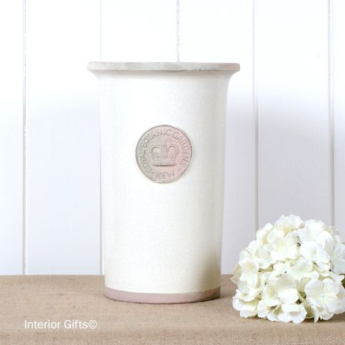 Kew Royal Botanic Gardens Florist Flower Vase in Ivory Cream - Medium 30.5