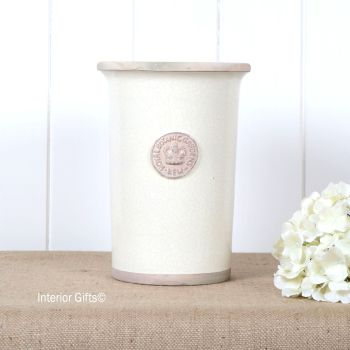 Kew Royal Botanic Gardens Florist Flower Vase in Ivory Cream - Small 25.5 cm H