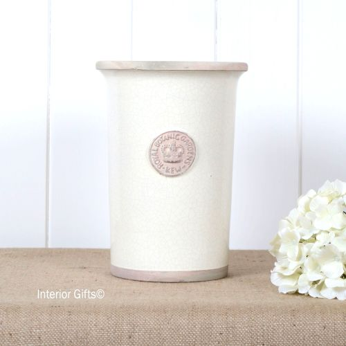 Kew Royal Botanic Gardens Florist Flower Vase in Ivory Cream - Small 25.5 c