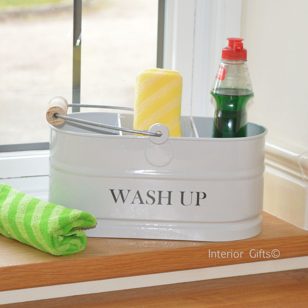 Washup Sink Tidy Container in Chalk