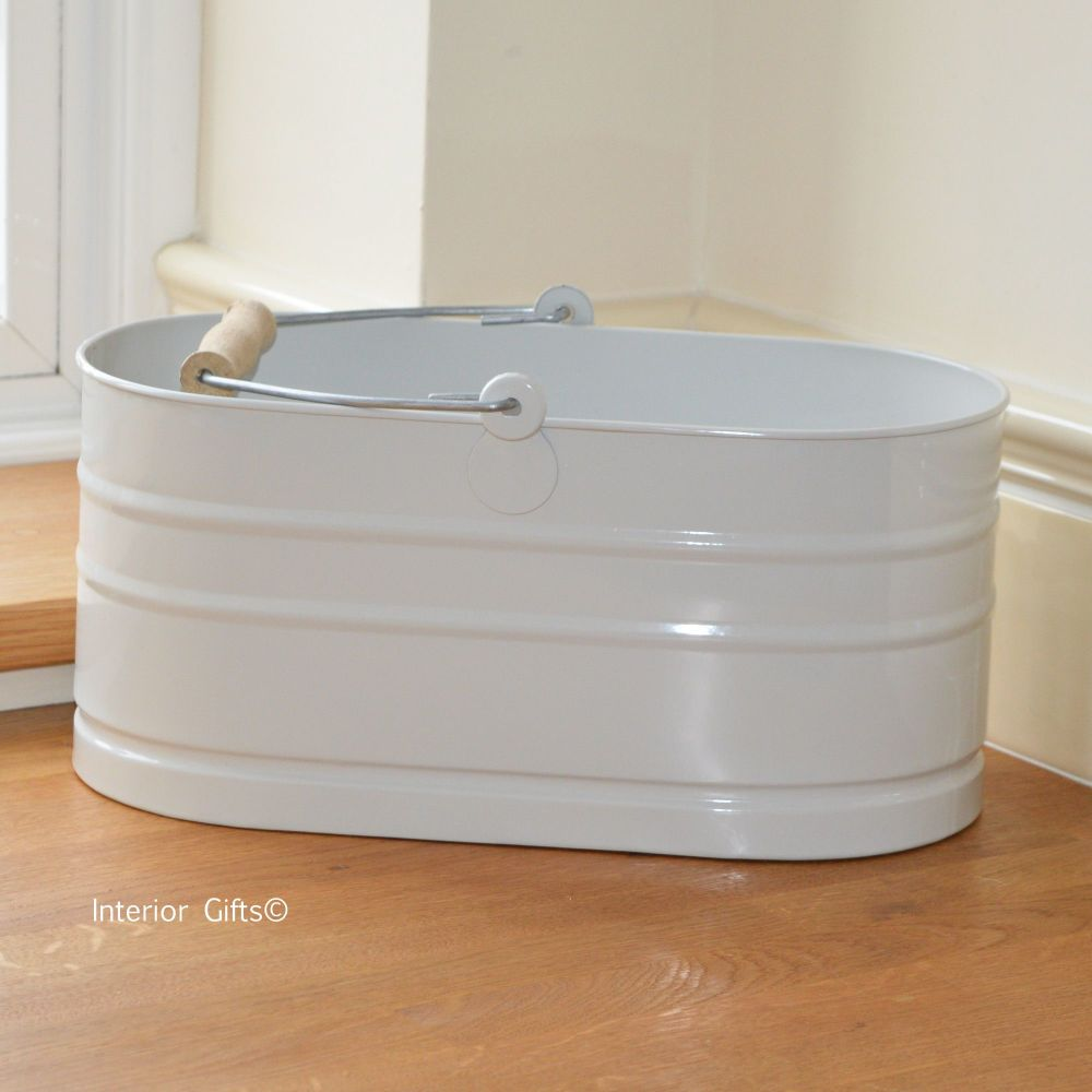 Household Tidy Bucket in Chalk