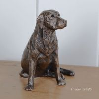 Nigel Bronze Labrador Sitting by Frith Sculpture