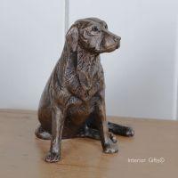 Nigel Bronze Labrador Sitting by Frith Sculpture