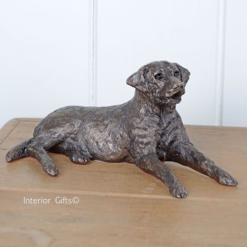 Edward Bronze Labrador Lying by Frith Sculpture