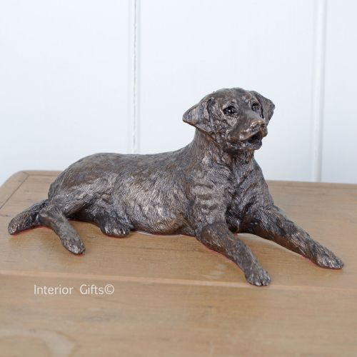 'Edward' Bronze Labrador Lying by Frith Sculpture