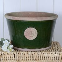 Kew Low Planter Pot Country Green - Royal Botanic Gardens Plant Pot - Large
