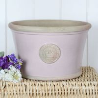 Kew Low Planter Pot Powder Pink - Royal Botanic Gardens Plant Pot - Large