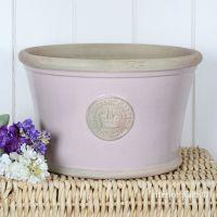 Kew Low Planter Pot Powder Pink - Royal Botanic Gardens Plant Pot - Large