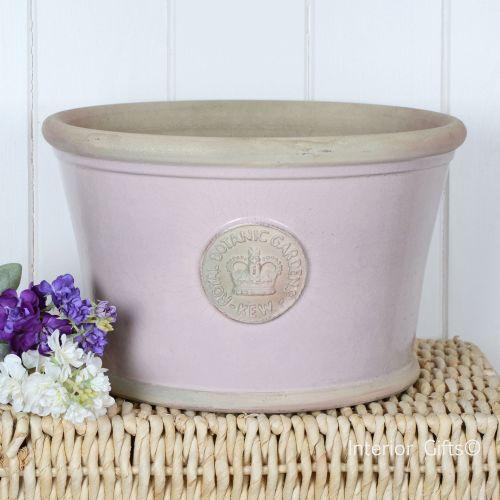 Pink Garden Planters: Kew Garden Low Planter Large Powder Pink