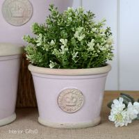 Kew Low Planter Pot Powder Pink - Royal Botanic Gardens Plant Pot - Small