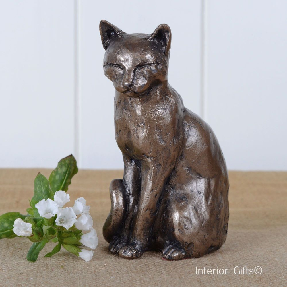 Willard Cat Sitting Amp Contemplating Frith Sculpture S062