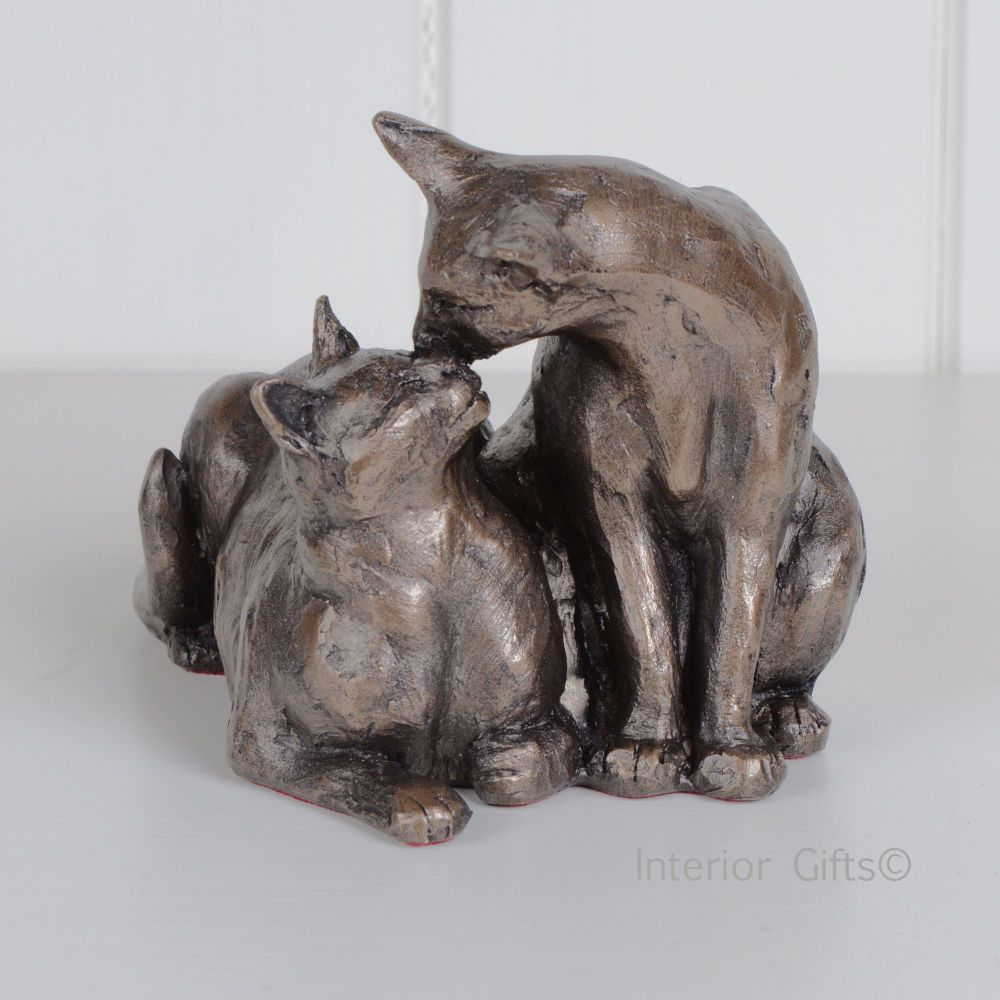 Best Friends Together Cat Frith Bronze Sculpture by Paul Jenkins