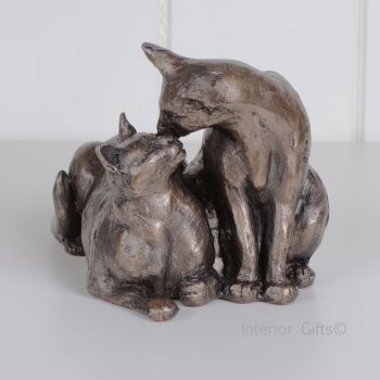 Felix & Oscar Cat Frith Bronze Sculpture by Paul Jenkins