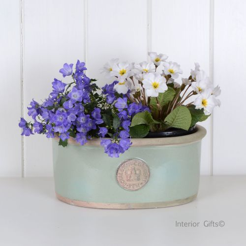 Kew Oval Planter in Chartwell Green - Royal Botanic Gardens Plant Pot - Sma