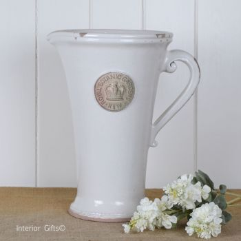 Kew Royal Botanic Gardens Tall Distressed Jug Old White - Large 35 cm