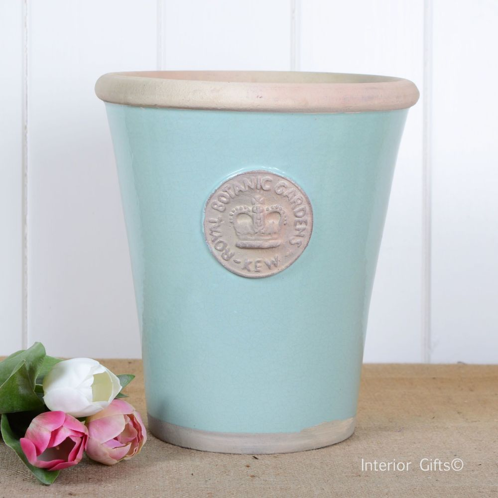 Kew Garden Long Tom Large Plant Pot Tiffany Blue Royal