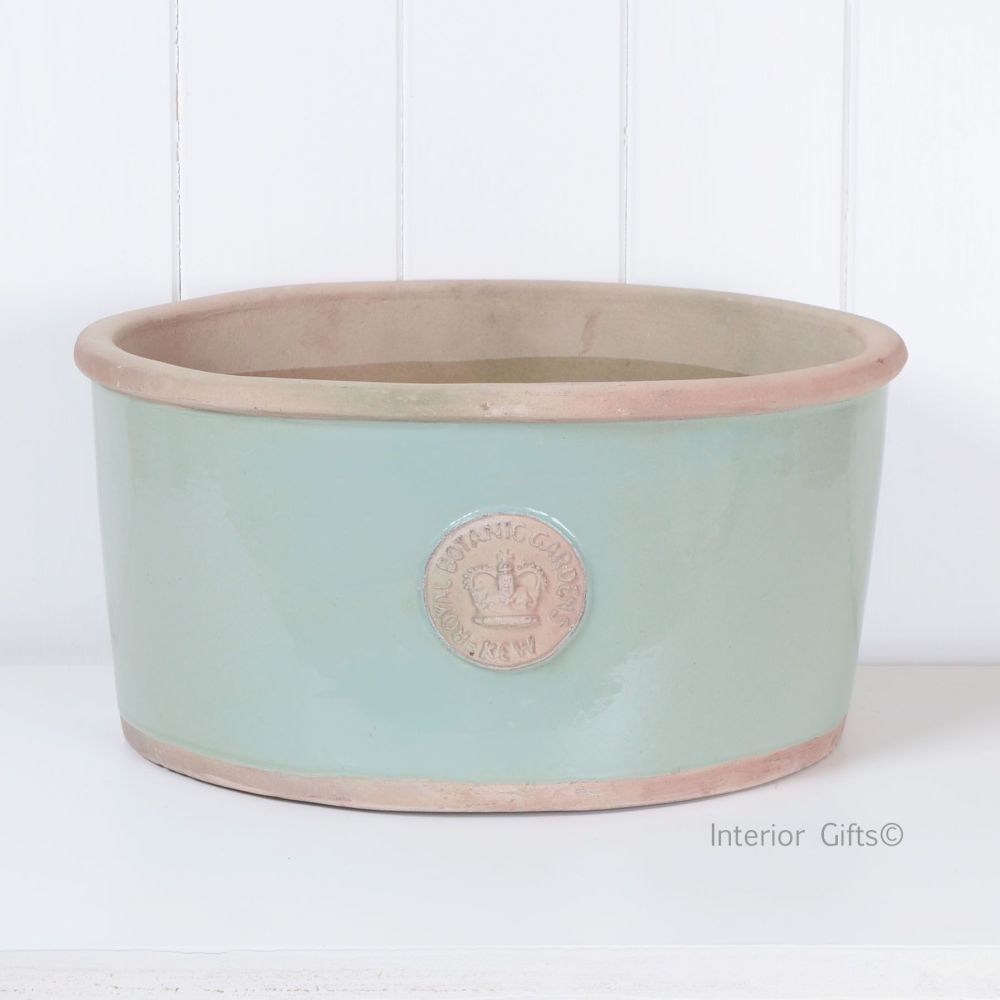 Kew Oval Planter in Chartwell Green - Royal Botanic Gardens Plant Pot - Lar