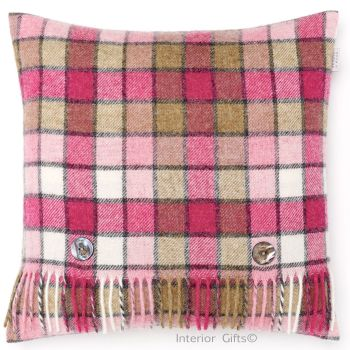 BRONTE by Moon Cushion - Pink Berlin Mix Check Shetland Wool
