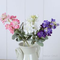 Faux Silk Mixed Stocks  - 3 Stems 36 cm