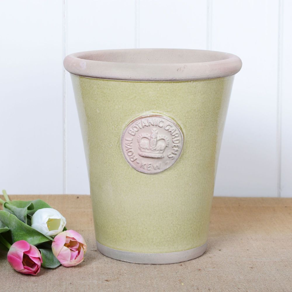 Kew Long Tom Pot in Grape Green - Royal Botanic Gardens Plant Pot - Large