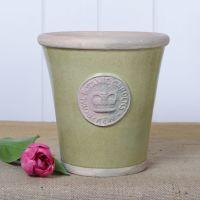 Kew Long Tom Pot in Grape Green - Royal Botanic Gardens Plant Pot - Medium