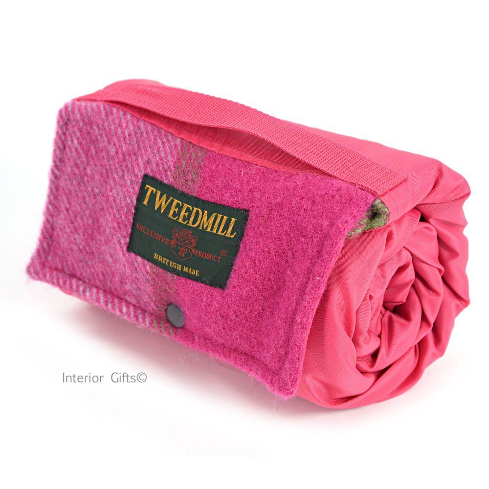 Tweedmill Walker Companion Block Check Pink/Green/Grey