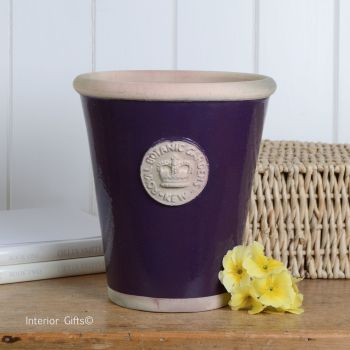 Kew Long Tom Pot in Aubergine - Royal Botanic Gardens Plant Pot - Large