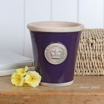 Kew Long Tom Pot in Aubergine - Royal Botanic Gardens Plant Pot - Medium